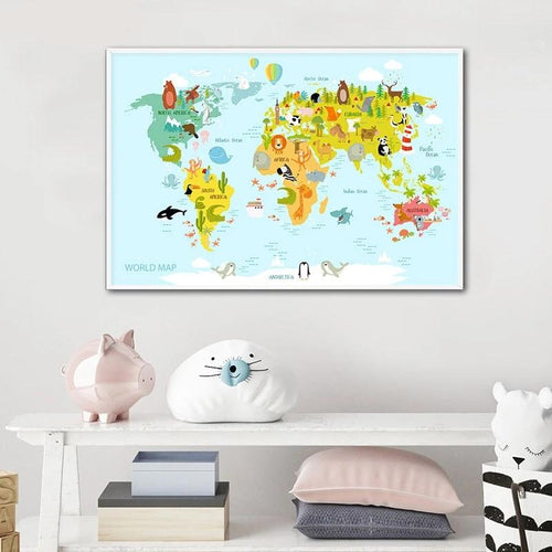 World Map Wall Print - Nested Nurseries