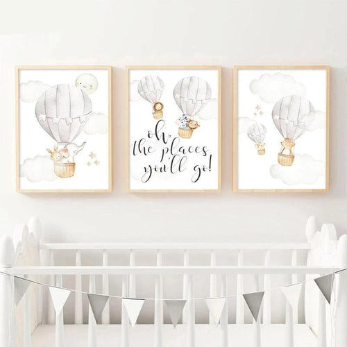 Places You'll Go Wall Print Collection - Nested Nurseries