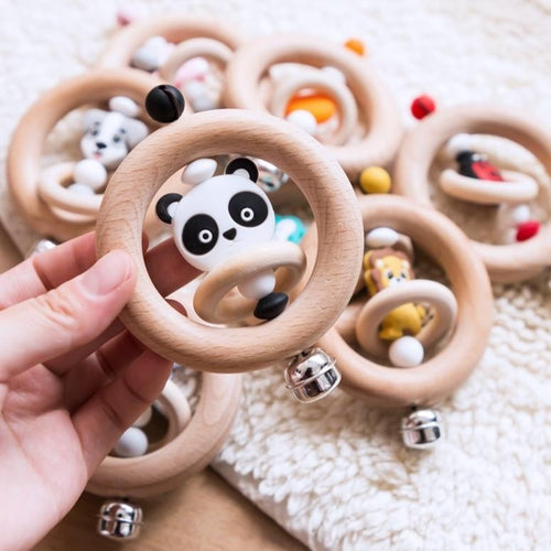 Wooden Rattle Ring Collection - Nested Nurseries
