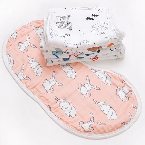 Bamboo Muslin Burp Cloth - Assorted Colours - Nested Nurseries
