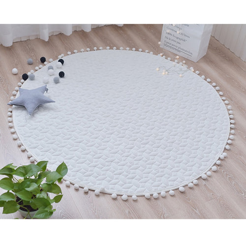 White Cotton Play Mat - Nested Nurseries