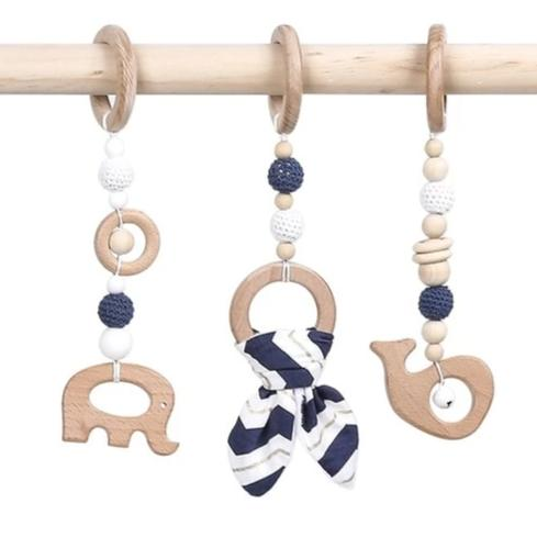 Wood Tie Ornament Set - Assorted Colours - Nested Nurseries