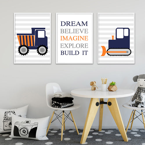 Build It Wall Print Collection - Nested Nurseries