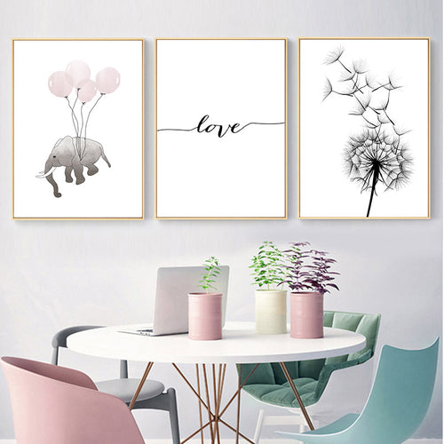 Dandelion Wall Print Collection - Nested Nurseries