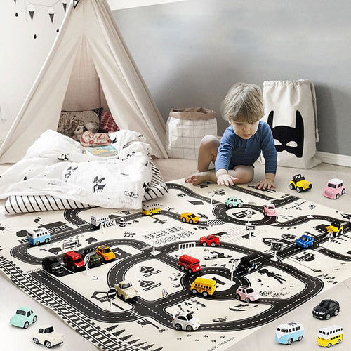 Traffic Kids Play Mat - Nested Nurseries