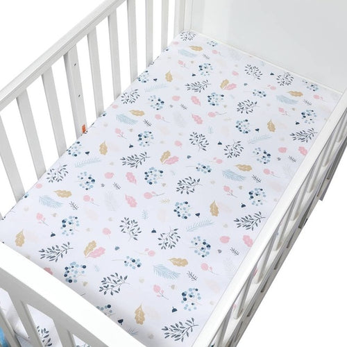 Cotton Fitted Crib Sheet - Assorted Patterns - Nested Nurseries