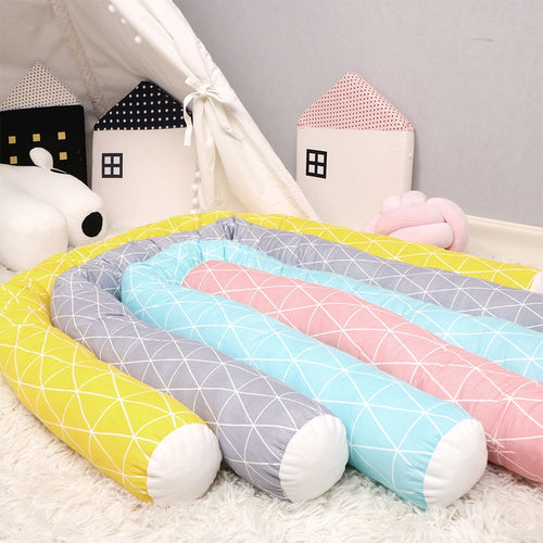 Geometric Pastel Cot Bumper - Assorted Colours - Nested Nurseries