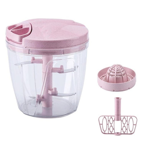 Manual Food Processor - Assorted Colours - Nested Nurseries