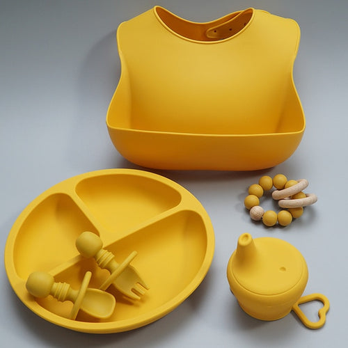 Lux Silicone Feeding Set - Assorted Colours - Nested Nurseries