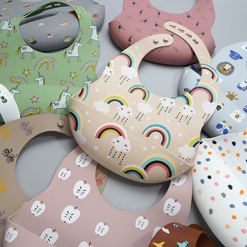 Printed Silicone Bib Collection - Nested Nurseries