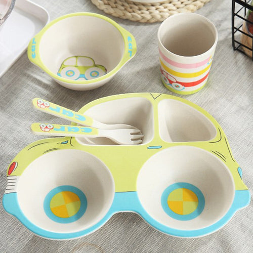 Bamboo Buggy Dinnerware Set - Assorted Colours - Nested Nurseries