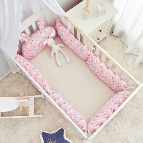 Rabbit Ears Cot Bumper Set - Assorted Patterns - Nested Nurseries