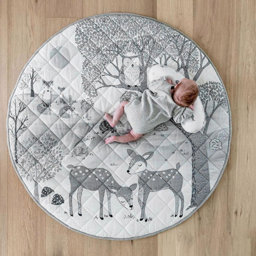 Woodland Grey Play Mat - Nested Nurseries