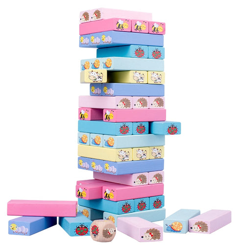 Stack High Wooden Block Game - Nested Nurseries