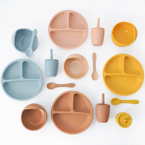Lux Silicone Tableware - Assorted Colours - Nested Nurseries