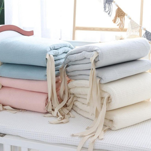 Waffle Cotton Cot Bumper Collection - Nested Nurseries