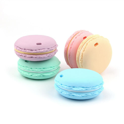 Macaron Silicone Teether - Assorted Colours - Nested Nurseries