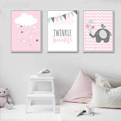 Twinkle Twinkle Wall Print Collection - Nested Nurseries