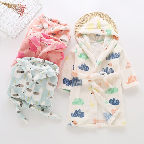 Toddler Bath Robe - Assorted Colours - Nested Nurseries