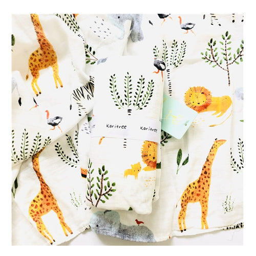 Bamboo Blend Swaddle Cloth - Assorted Patterns - Nested Nurseries
