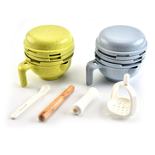 Nested Food Grinding Set - Assorted Colours - Nested Nurseries