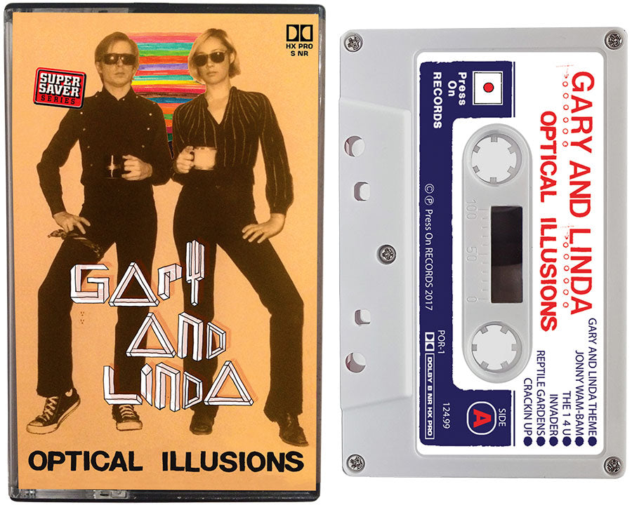 Album cover of the Gary and Linda cassette tape entitled, Optical Illusions