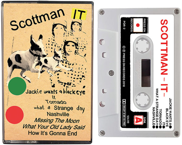 SCOTTMAN cassette tape entitled, It, is written by Scott McMicken of Dr. Dog