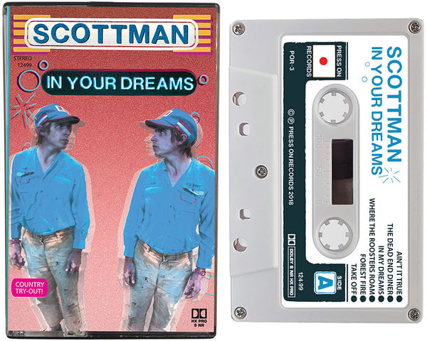 SCOTTMAN cassette tape entitled, In Your Dreams, is written by Scott McMicken of Dr. Dog