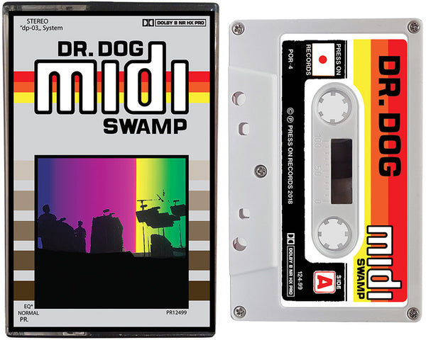 Dr. Dog cassette tape album cover of Midi Swamp