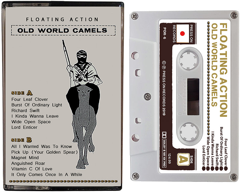FLOATING ACTION cassette tape, Old World Camels, is the 2019 album by Seth Kauffman