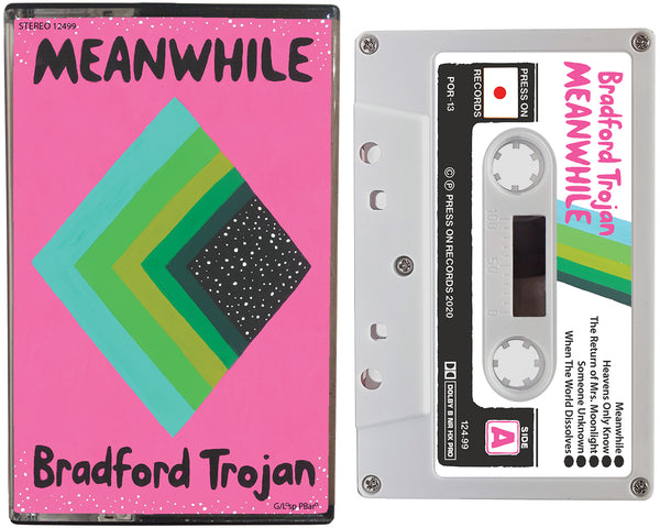 Album cover of the Bradford Trojan cassette tape entitled Meanwhile.
