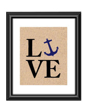 Show that special Navy Family or Individual some love with this unique Love Navy Burlap or Cotton Print