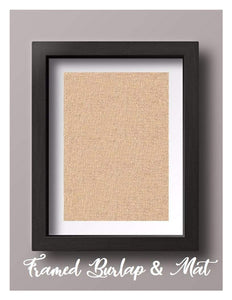 Framed Natural Burlap with Mat