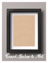 Framed Natural Burlap Print with Mat
