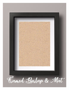Framed Natural Burlap & Mat Print