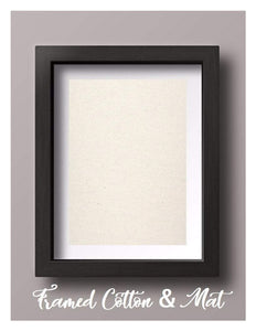 Framed Natural Cotton with Mat
