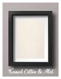 Framed Natural Cotton Print with Mat