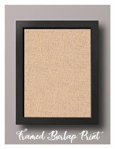 Framed Natural Burlap Print