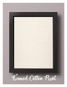 Framed Natural Cotton