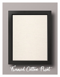 Framed Natural Cotton Print