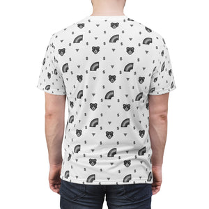 Grey-scaled Gay Bear Print Unisex T-Shirt - WallStreet Autist