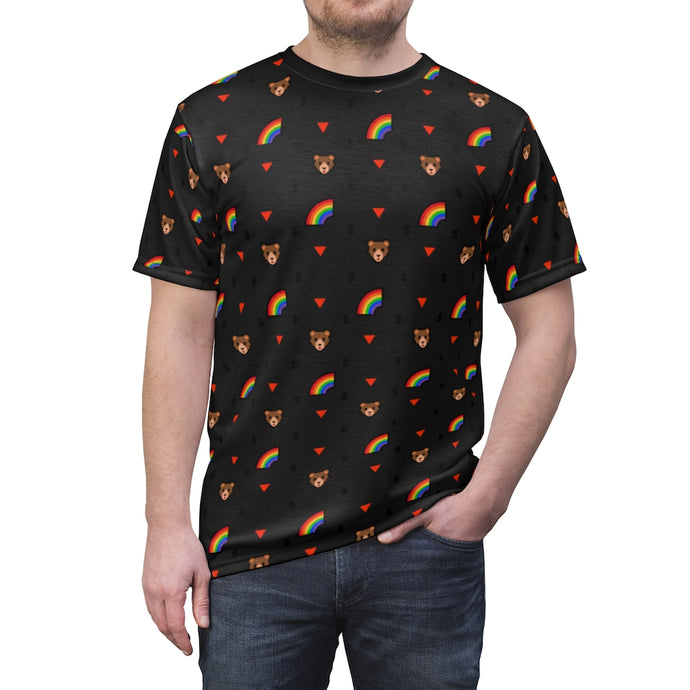 Gay Bear Print Unisex T-Shirt - WallStreet Autist