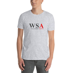WSA WallStreet Autist Original White/Gray Short-Sleeve Unisex T-Shirt - WallStreet Autist