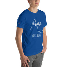 Load image into Gallery viewer, Buy High Sell Low Colored Short-Sleeve Unisex T-Shirt - WallStreet Autist