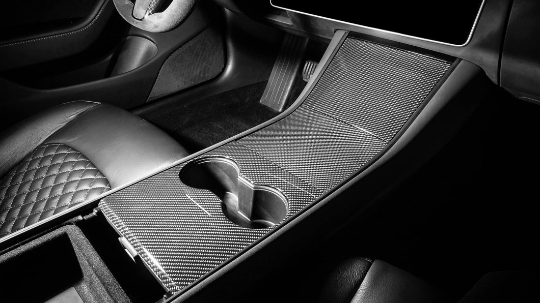 Tesla Model 3 Carbon Fiber Center Console Set (3pcs)