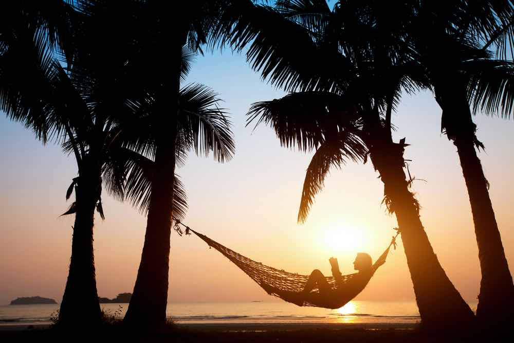 Beach Hammock In Sunset