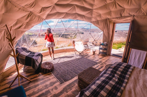 geo dome glamping tent