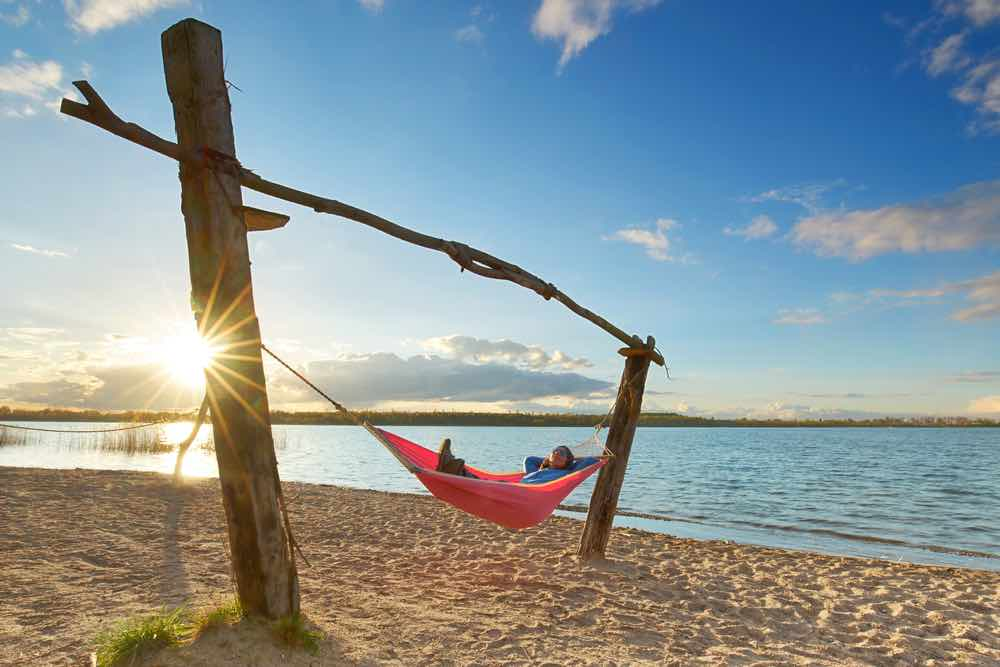 Beach Hammock With Posts