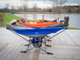 Chill Master Portable Folding Camping Hammock with Stand-Make Happy