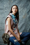 blue Maiyarap scarf, blue scarf, buy blue scarf, Thai blue scarf, blue scarf designs, blue Thai scarf design